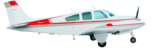 Beechcraft Baron 58 Midsize Air Taxi in flight