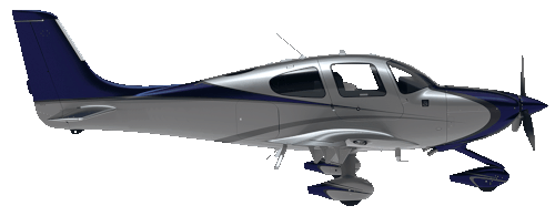 Cirrus Premium Air Taxi in flight