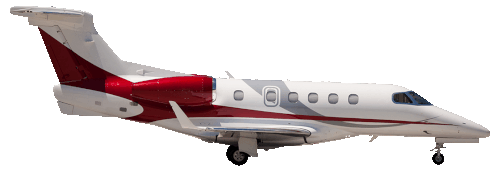 Embraer Phenom 300 Light Jet Taxi in flight
