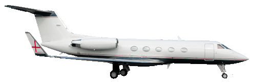 Gulfstream IV Large Jet in flight
