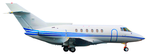 Hawker 800XP Midsize Jet in flight
