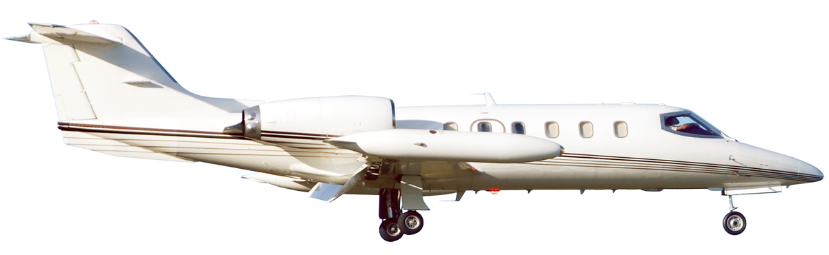 Lear 45 Light Jet in flight