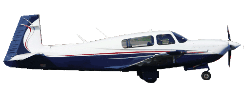 Beech Bonanza Air Taxi in flight