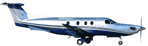 Beechcraft King Air B90 Executive Air Taxi in flight