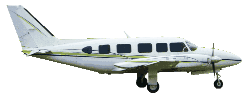 Cessna 414 Large Air Taxi in flight