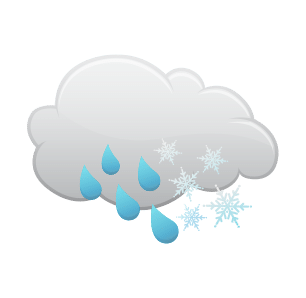Icon representation of Light sleet in the morning and afternoon.